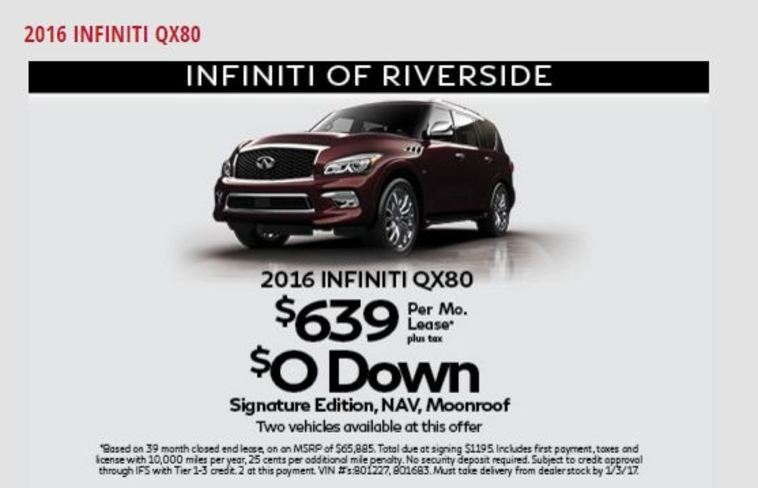Infiniti Of Riverside >> Leaserank Com Lease Offer From 91203 Us