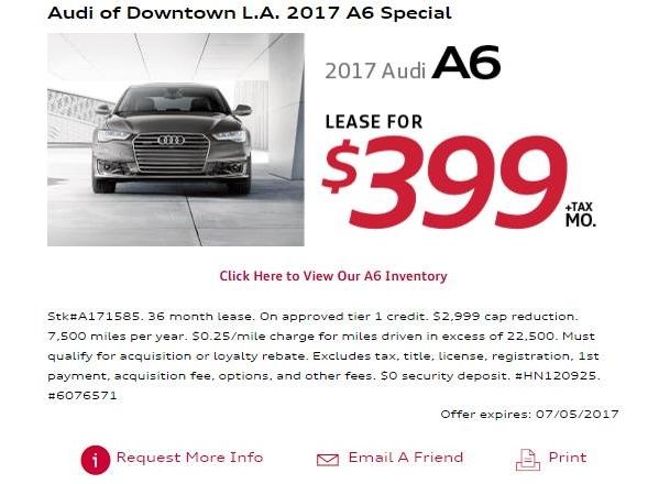 LeaseRankcom Lease Offer From US - Audi downtown la